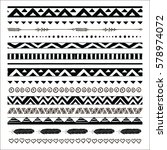 black abstract tribal... | Shutterstock .eps vector #578974072