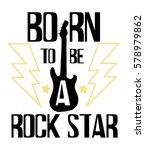 rock festival poster. rock and... | Shutterstock .eps vector #578979862