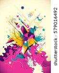 artistic background with... | Shutterstock .eps vector #579016492