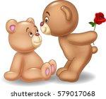 Cartoon Romantic Couple Of...