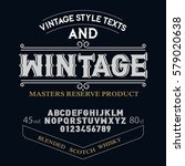 typeface. label. wintage... | Shutterstock .eps vector #579020638