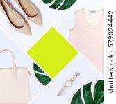 fashion blogger concept....   Shutterstock . vector #579024442