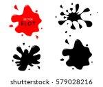 the ink blots.spot vector... | Shutterstock .eps vector #579028216