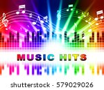 music hits design showing sound ... | Shutterstock . vector #579029026