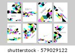 memphis geometric background... | Shutterstock .eps vector #579029122