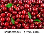 cherry. fresh organic berries... | Shutterstock . vector #579031588
