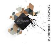 memphis geometric background... | Shutterstock .eps vector #579034252