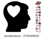 love heart think pictograph... | Shutterstock .eps vector #579035818