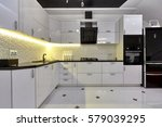 Stock photo kitchen with appliances and a beautiful interior 579039295