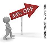 thirty three percent off arrow... | Shutterstock . vector #579040588