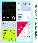 set of party invitations or... | Shutterstock .eps vector #579046006