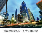the road in the city of... | Shutterstock . vector #579048022