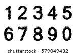 grunge numbers set.vector... | Shutterstock .eps vector #579049432