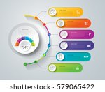 Timeline infographics design vector and marketing icons can be used for workflow layout, diagram, annual report, web design. Business concept with 6 options, steps or processes. | Shutterstock vector #579065422