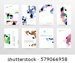memphis geometric background... | Shutterstock .eps vector #579066958