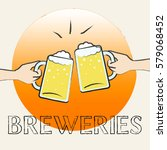 breweries beers showing beer... | Shutterstock . vector #579068452