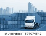 logistics global transportation ... | Shutterstock . vector #579074542