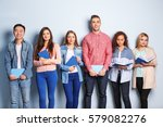group of people with books... | Shutterstock . vector #579082276