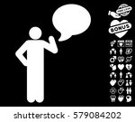 man idea balloon pictograph... | Shutterstock .eps vector #579084202