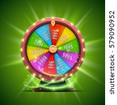 colorful fortune wheel.... | Shutterstock .eps vector #579090952