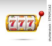 golden slot machine wins the... | Shutterstock .eps vector #579091162