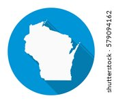 wisconsin state map flat icon... | Shutterstock .eps vector #579094162