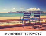 landscape of the french riviera ... | Shutterstock . vector #579094762