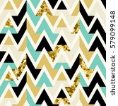 vector seamless gold  black and ... | Shutterstock .eps vector #579099148