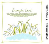 spring postcard with hand drawn ... | Shutterstock .eps vector #579099388