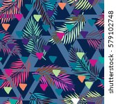 exotic seamless pattern with... | Shutterstock .eps vector #579102748