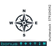 compass icon | Shutterstock .eps vector #579104542