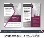 purple annual report brochure... | Shutterstock .eps vector #579106246