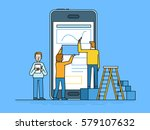 vector illustration in trendy... | Shutterstock .eps vector #579107632