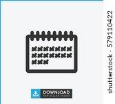 calendar icon illustration...   Shutterstock .eps vector #579110422