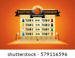 vector of basketball match with ... | Shutterstock .eps vector #579116596