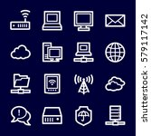 cloud computing and internet ... | Shutterstock .eps vector #579117142