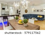dinning room  fruits and... | Shutterstock . vector #579117562