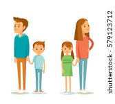 family divorce | Shutterstock .eps vector #579123712