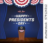 happy presidents day background.... | Shutterstock .eps vector #579124312