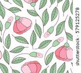 cute elegant floral seamless...   Shutterstock .eps vector #579125278