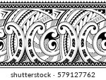 maori style ornament. good for... | Shutterstock .eps vector #579127762