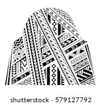 samoa style ornament. good for... | Shutterstock .eps vector #579127792