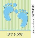 Baby Boy Arrival Announcement...