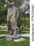Small photo of POGRADEC. ALBANIA. 17 OCTOBER 2014 : Monument to Lasgush Poradeci in Pogradec. Albania