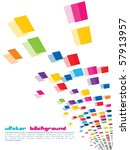 a set of colorful mosaic design | Shutterstock .eps vector #57913957