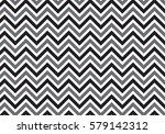 black and gray vintage zigzag chevron pattern vector | Shutterstock vector #579142312