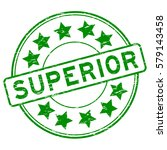 grunge green superior with star ... | Shutterstock .eps vector #579143458