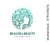 health and beauty. logo for... | Shutterstock .eps vector #579144676