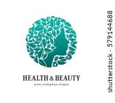health and beauty. logo for... | Shutterstock .eps vector #579144688