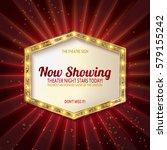 retro light sign. vintage style ... | Shutterstock .eps vector #579155242